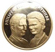 Médailles Belgique Mariage du Prince Philippe – avers