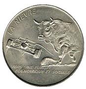 2 euro de la Nièvre (58) 1997 – avers