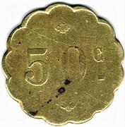 50 centimes Jardin de Paris - Paris (75) – revers