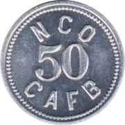 50 cents - N.C.O. Open Mess (Charleston Air Force Base, South Carolina) – avers