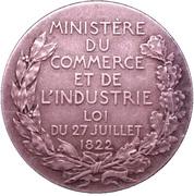 """Médaille """"Comité des Expertises"""" -  avers"""
