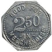 2½ dollars - Dieter Mercantile Co. (Miltonvale, Kansas) – revers