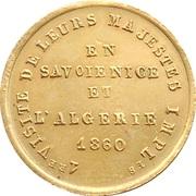 Visite de Napoléon III en Savoie Algérie et à Nice – revers