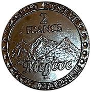 2 francs - casino Megeve – revers