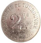 2 Francs - Verrerie - Tourouvre [61] – avers