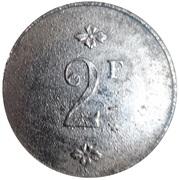 2 Francs - Verrerie - Tourouvre [61] – revers
