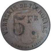 5 Francs - Verrerie - Tourouvre [61] – avers