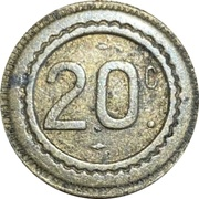 20 Centimes -  Shake Hands – revers