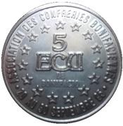 5 ECU de Bonifacio – revers