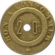 20 Centimes -  Bon A Consommer – avers