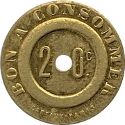 20 Centimes -  Bon A Consommer – revers