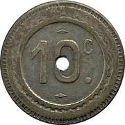 10 Centimes -  Monogram – revers