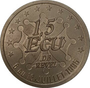 1.5 écu de Revel – avers