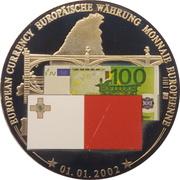 Token - European Currency (Malta - 100 Euro) – avers