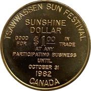 Sunshine Dollar (Tsawwassen, BC) – revers