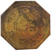 2 Dollars - Feely Mercantile Co. (Athol, Kansas) – revers