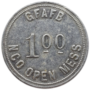 1 Dollar - GFAFB NCO Open Mess (Grand Forks, North Dakota) – avers