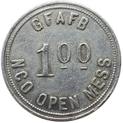 1 Dollar - GFAFB NCO Open Mess (Grand Forks, North Dakota) – revers