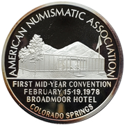 Medal - American Numismatic Association (1st Mid-Year Convention) – avers