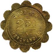 2½ Dollars - Buehler Mercantile Co. (Claflin, Kansas) – revers