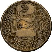 2 Packs of Cigarettes (Norton Air Force Base, California) – revers