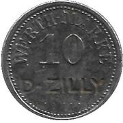 10 Pfennig - Werth-Marke (counterstamped D-Zilly) – avers