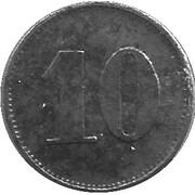 10 Pfennig - Werth-Marke (counterstamped D-Zilly) – revers
