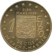 1 Euro de l'Ile De Saint-Martin – revers