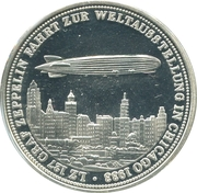 Token - Zeppelin in Chicago world's fair – avers