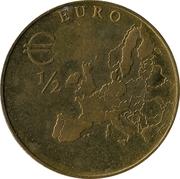 ½ euro - Ministère des finances de Thuringe – revers