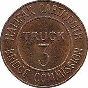 Token - Halifax Dartmouth Bridge Commission (Truck 3; Bronze) – avers
