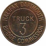 Token - Halifax Dartmouth Bridge Commission (Truck 3; Bronze) – revers