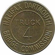 Token - Halifax Dartmouth Bridge Commission (Truck 4; Brass) – avers