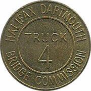 Token - Halifax Dartmouth Bridge Commission (Truck 4; Brass) – revers