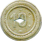 10 Centimes  Marchand Valenciennes [59] – revers