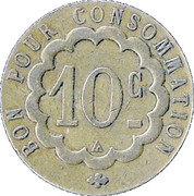 10 centimes Bon pour consommation (MM) – revers