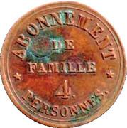 Abonnement de famille - 4 Personnes - Théâtre Comte - Passage Choiseul - Paris [75] – revers