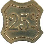 25 centimes - Bal du cygne - Villeneuve Saint Georges [94] – revers