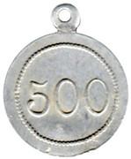 500 g (Pain) Boulangerie coopérative des cheminots - Thouars [79] – revers