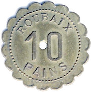 10 pains  - GRUAU - ROUBAIX [59] – revers