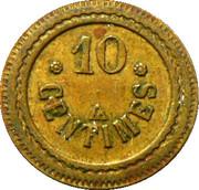 10 Centimes - Token – revers