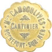 25 centimes - Mon. Camboulives - Cantinier - Rochefort [17] – avers