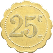 25 centimes - Mon. Camboulives - Cantinier - Rochefort [17] – revers