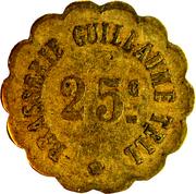 25 centimes - Brasserie Guillaume Tell - (Toulon 83) – avers
