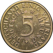 40 Years 5 Silver Mark – avers