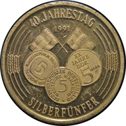 40 Years 5 Silver Mark – revers