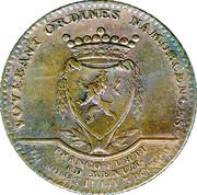 Médaille frappée par les états de Namur - couronnement de François II comme empereur à Francfort – revers