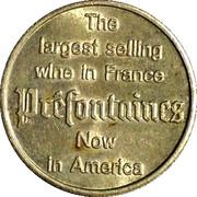 """Vin Préfontaines """"bonne chance"""" 1 Franc – avers"""
