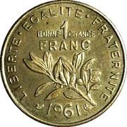 """Vin Préfontaines """"bonne chance"""" 1 Franc – revers"""