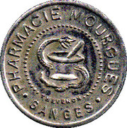 10 centimes - pharmacie Mourgues - Ganges [34] – avers